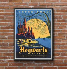 Harry Potter Retro Hogwarts Poster Art Film Poster Movie