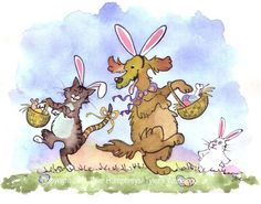 Easter Card Funny Easter Greeting Card Funny by tylersworkshop