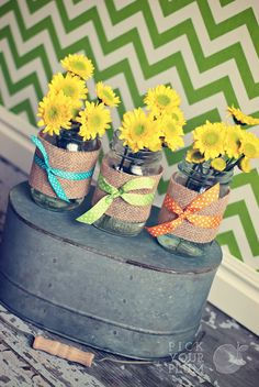 decorative mason jars | cute idea for decorating mason jars