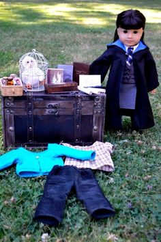 Get her ready for Hogwarts #TeamRavenclaw. | 29 Incredible Character Transformations For Your American Girl Doll