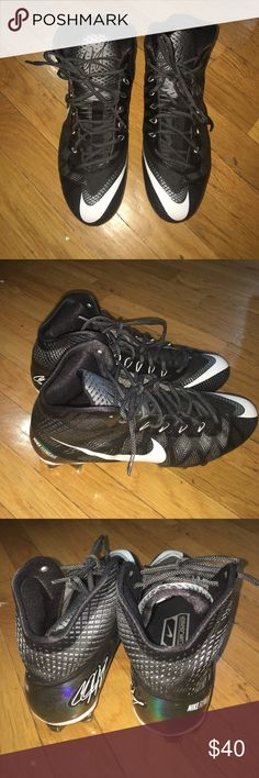 Nike Football Calvin Johnson Cleats Sz 11 Black and white football cleats. Excellent condition. Nike Shoes Sneakers