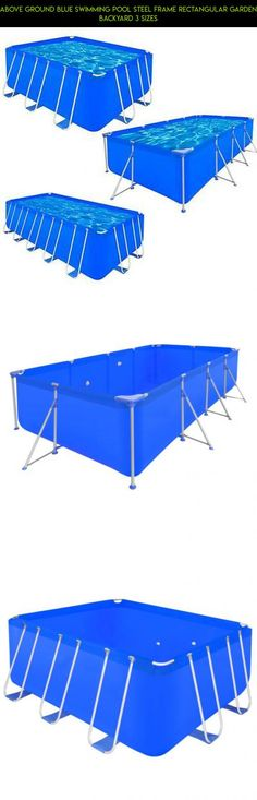 Above Ground Blue Swimming Pool Steel Frame Rectangular Garden Backyard 3 Sizes #gadgets #camera #drone #technology #4 #racing #fpv #shopping #parts #pools #kit #plans #products #tech