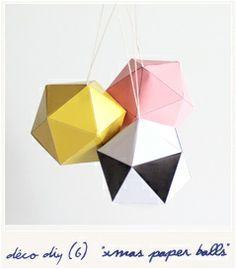 Xmas paper balls