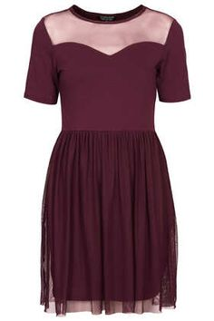 Mesh Sweetheart Mini Dress