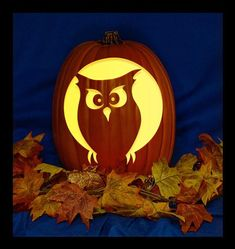 Items similar to Screech Owl - Hand Carved on a Foam Pumpkin - Plug in light with Switch included. on Etsy Citouille Halloween, Halloween Projects, Halloween Pumpkins, Disney Pumpkin Carving, Amazing Pumpkin Carving, Pumpkin Stencil, Pumpkin Art, Pumpkin Ideas, Pumpkin Carver