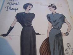 Vintage 1940's Vogue 4674 Dress Sewing Pattern by TheLastPixie