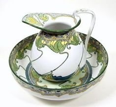 Image result for Art Nouveau china that depicts the nature-inspired influences of that period