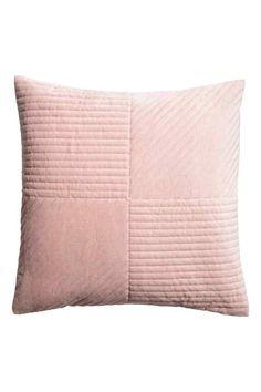 Quiltet pudebetræk i velour - Lys rosa - Home All | H&M DK