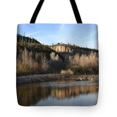 Cherry Creek Crossing Tote Bag by Tom Janca.  The tote bag is machine washable, available in three different sizes, and includes a black strap for easy carrying on your shoulder.  All totes are available for worldwide shipping and include a money-back guarantee.