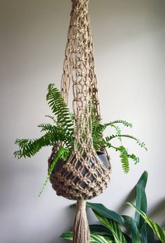 New Pictures VENUS Macramé Plant Hangers// CHOOSE One or Set Of 3 Retro Bohemian Trio Matching or Order Any One Large Long Jute Boho Hippie Suggestions If you have little place for the keeping of flowerpots, hanging flowerpots really are a good Alterna Macrame Art, Macrame Design, Macrame Projects, Macrame Knots, Macrame Plant Holder, Plant Holders, Hanging Candles, Hanging Planters, Handmade Home Decor