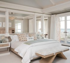 neutral coastal bedroom | Alice Black Interiors