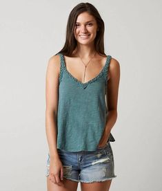 Billabong Show Case Tank Top - Women's Tank Tops in Sugar Pine Best Tank Tops, Basic Tank Top, Grunge, Hipster, Tank Top Outfits, Cool Fabric, Billabong, Latest Fashion Trends, Plus Size Outfits