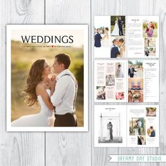 Wedding Photography Magazine Template Pricing Brochure 16 Page Templates