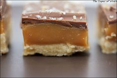 Homemade twix bars (salted) - I think I need to make this... an hour ago.