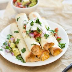 These chipotle cheese slow cooker chicken taquitos are perfect for a busy weeknight/back to school meal!