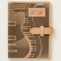 Shop Monogram Electric Guitar 2 Leather Journal created by BlueRose_Design. Leather Notebook, Leather Journal, Notebooks, Journals, Moleskine Notebook, Leather Accessories, Cow Leather, Ipad Mini, I Shop