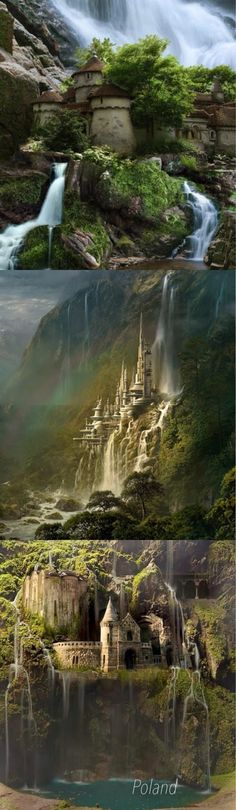 Waterfall Castle in Poland has got to be the epitome of the fairly-tale, dream-life castle.
