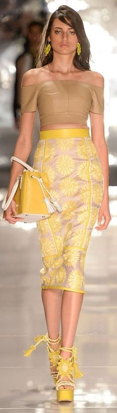 Advanced Color Combinations for Clothes and Outfits - 1 Print (skirt) with 1 Solid that is not in print (light brown top)