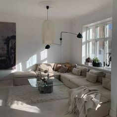 Ikea Couch Covers, Furniture Covers, Ikea Furniture, Interior Design Inspiration, Home Interior Design, Ikea Soderhamn, Ikea Sofas, Ikea Living Room, Living Rooms