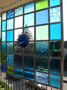 Stained Glass Window  Blue and green sea by VancouverStainGlass, $129.00