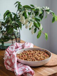 Mehevä Raparperipiirakka (G) | Annin Uunissa Most Delicious Recipe, Beans, Food And Drink, Gluten Free, Yummy Food, Sweets, Baking, Vegetables, Recipes