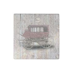 STAGE COACH STONE MAGNET - rustic gifts ideas customize personalize