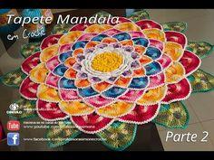 Crochet Round Rug Mandala