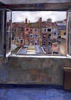 Anthony Eyton, Open Window, Spitalfields 1976-81