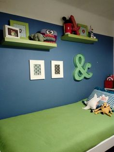 Baby Games, Ideas Para, Toddler Bed, Kids Room, Decorating Ideas, House, Furniture, Home Decor, Bedroom Turquoise