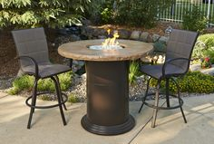 Gas fire pit table- pub height! So awesome