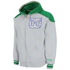 Hartford Whalers Classic Full Zip Hooded Sweatshirt Hartford Whalers e23e6fea7