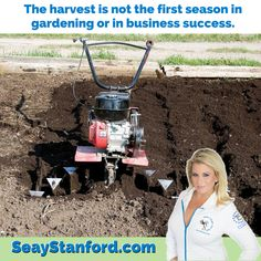 The harvest is not the first season in gardening or in business success.