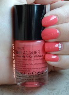 Catrice 20 Meet Me At Coral Island http://adjustingbeauty.blogspot.com/2013/07/catrice-nail-lacquer-20-meet-me-at.html