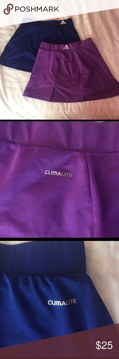Adidas Tennis Skirt Bundle Has spandex attached underneath, same skirt 2 colors, cute & short. Both xs. Adidas Skirts