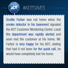 This is the story of Scottie Farber. #ADTSaves #ADT #AlwaysThere