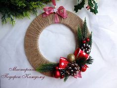 How to Make a Christmas Wreath – a free tutorial on the topic: DIY Projects ✓DIY ✓Steps-By-Step ✓With photos Diy Christmas Decorations For Home, Christmas Wreaths To Make, Holiday Wreaths, Simple Christmas, Christmas Holidays, Christmas Crafts, Christmas Ornaments, Holiday Decor, Christmas Swags