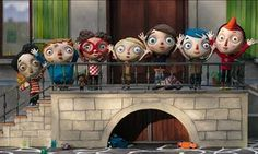 MY LIFE AS A COURGETTE: AHMED, JUJUBE, BEATRICE, ALICE, CAMILLE, COURGETTE and SIMON in the film MY LIFE AS A COURGETTE (2016), directed By CLAUDE BARRAS