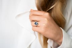 Shop this ethical, conflict-free engagement ring and more lab-grown diamond jewelry at MiaDonna today. Engagement Ring Guide, Platinum Engagement Rings, Antique Engagement Rings, Engagement Ring Settings, Flora Vintage, Ring Verlobung, Gold Ring, Blue Sapphire Rings, Wedding Matches