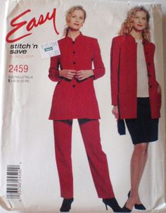 SALE  Stitch and Save Sewing Pattern  Unlined Jacket Top