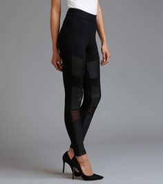 Dynamite: High Rise Faux Leather Legging With Mesh (medium)