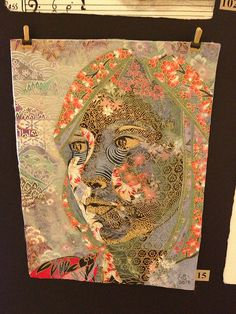Crafty Toronto - The Paper Place 6x8 Exhibit by Shopping Diva, via Flickr. Washi paper portrait