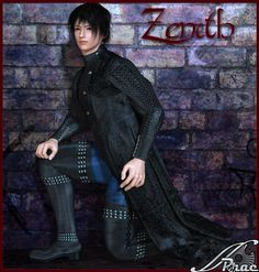 Zenith for M4H4 - $11.95 Zenith For M4 H4  This super conforming outfit for M4 and H4 consists of a Sleeveless Coat, Shirt, Trousers and Thigh High Boots. It comes with 6 high resolution texture maps - Earth, Flame, Night, Shadow, Sky and Snow as well as 5 coloured mat pose files in Black, Blue, Brown, Violet and Silver.  --------------------------------------  System Requirements:  PC and Mac compatible Poser 5+ Daz Studio 3+ M4