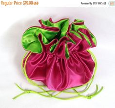 Wedding Bag Satin Bridal Money Purse Fuchsia and by EdieCastle Wedding Bags, Satin, Purses, Bridal, Trending Outfits, Unique Jewelry, Handmade Gifts, Money, Etsy