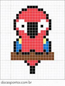 29 Images of Kawaii Pixel Art Template Cross Stitch Bird, Beaded Cross Stitch, Simple Cross Stitch, Cross Stitch Animals, Cross Stitch Designs, Cross Stitching, Cross Stitch Embroidery, Cross Stitch Patterns, Perler Patterns