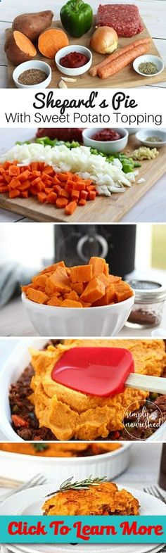 #FastestWayToLoseWeight by EATING, Click to learn more, This mouthwatering shepards pie with sweet potato topping is whole 30 friendly, gluten-free and dairy-free! , #HealthyRecipes, #FitnessRecipes, #BurnFatRecipes, #WeightLossRecipes, #WeightLossDiets