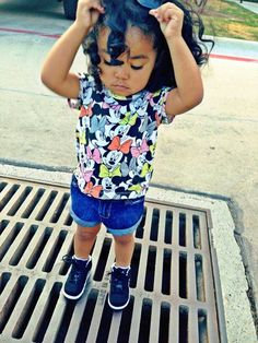 Niyah has swag already and she is only 1 !!!!!!# just like mommy and daddy