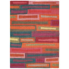 Brink & Campman Kodari Bricks Rug - 99700 - 200x300cm ($2,610) ❤ liked on Polyvore featuring home, rugs, red, hand knotted wool rugs, low pile area rug, red wool rug, rectangular rugs and low pile rug