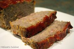 Melissa's Cuisine: Bacon Cheeseburger Meatloaf