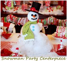 Snowman Party Centerpiece featuring Amanda from Shindig Parties To Go