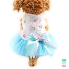 This Tutu Party Dog Dress is one of our cutest princess dog dresses, for this Spring! With a mixture of a soft floral jersey top and an adorable party tutu, this doggy dress is perfect for both day and night! https://www.dressyourdoggy.com/collections/dresses/products/tutu-party-dog-dress?variant=32512674258